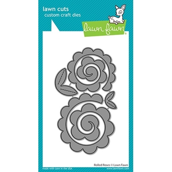 Lawn Fawn ROLLED ROSES Die Cuts lf2259