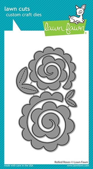 Lawn Fawn ROLLED ROSES Die Cuts lf2259 zoom image