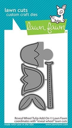 RESERVE Lawn Fawn REVEAL WHEEL TULIP ADD-ON Die Cuts lf2252 Preview Image