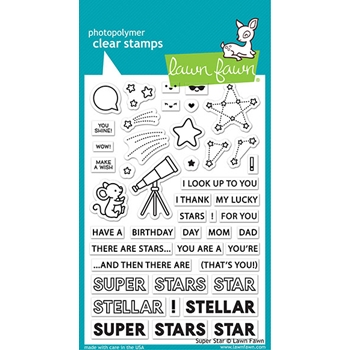 Lawn Fawn SUPER STAR Clear Stamps lf2241