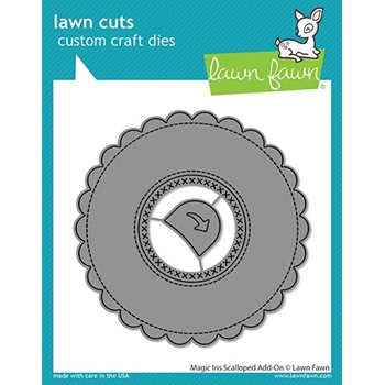 Lawn Fawn MAGIC IRIS SCALLOPED ADD-ON Die Cuts lf2240