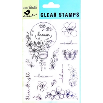 Little Birdie SHINE BRIGHT Clear Stamps cr82603