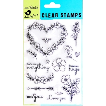 Little Birdie LOVE ALWAYS Clear Stamps cr82553