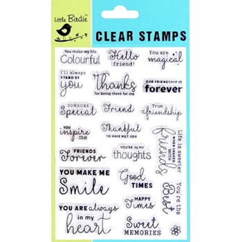 Little Birdie THANKFUL Clear Stamps cr82548