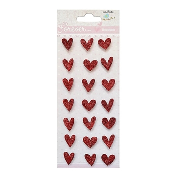Little Birdie GLITTER HEARTS Handmade Embellishments cr79534