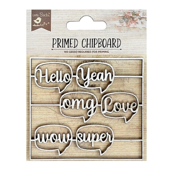 Little Birdie HELLO LOVE CHIPBOARD Handmade cr82943