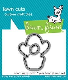 Lawn Fawn YEAR TEN Die Cuts lf2237 Preview Image