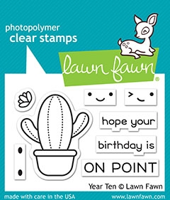 RESERVE Lawn Fawn YEAR TEN Clear Stamps lf2236