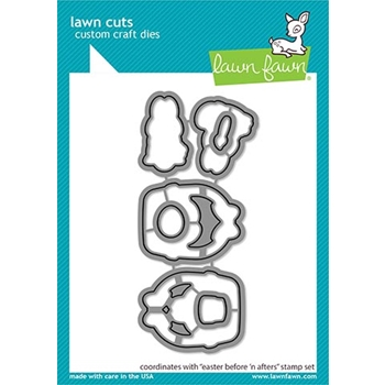 Lawn Fawn EASTER BEFORE 'N AFTERS Die Cuts lf2231