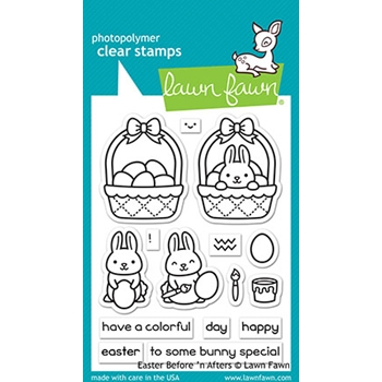 Lawn Fawn EASTER BEFORE 'N AFTERS Clear Stamps lf2230