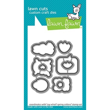 Lawn Fawn SAY WHAT SPRING CRITTERS Die Cuts lf2229