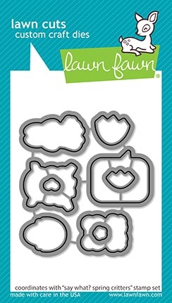 Lawn Fawn SAY WHAT SPRING CRITTERS Die Cuts lf2229 zoom image