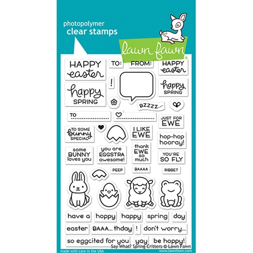 Lawn Fawn SAY WHAT SPRING CRITTERS Clear Stamps lf2228 Preview Image