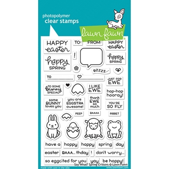 Lawn Fawn SAY WHAT SPRING CRITTERS Clear Stamps lf2228