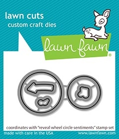 Lawn Fawn REVEAL WHEEL CIRCLE SENTIMENTS Die Cuts lf2226