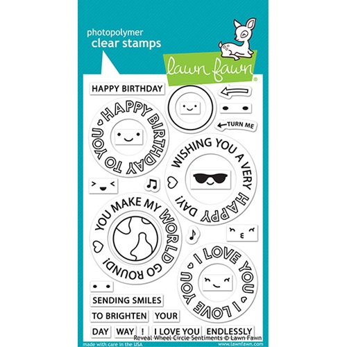 Lawn Fawn REVEAL WHEEL CIRCLE SENTIMENTS Clear Stamps lf2225 Preview Image