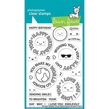 Lawn Fawn REVEAL WHEEL CIRCLE SENTIMENTS Clear Stamps lf2225