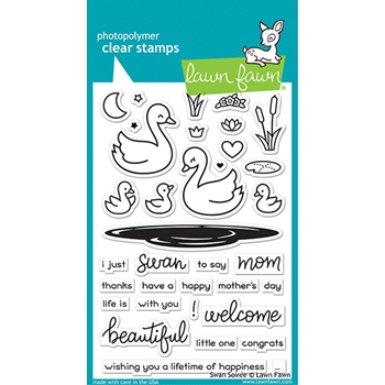 Lawn Fawn SWAN SOIREE Clear Stamps lf2219