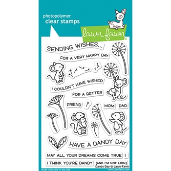 Lawn Fawn DANDY DAY Clear Stamps lf2217