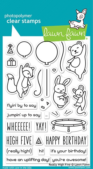 Lawn Fawn REALLY HIGH FIVE Clear Stamps lf2215 zoom image