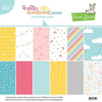 RESERVE Lawn Fawn HELLO SUNSHINE REMIX 12x12 Collection Pack lf2200