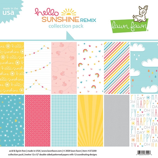 Lawn Fawn HELLO SUNSHINE REMIX 12x12 Collection Pack lf2200 zoom image