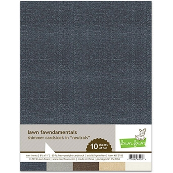 Lawn Fawn NEUTRALS 8.5 x 11 Inch Shimmer Cardstock lf2183