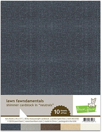 Lawn Fawn NEUTRALS 8.5 x 11 Inch Shimmer Cardstock lf2183 zoom image