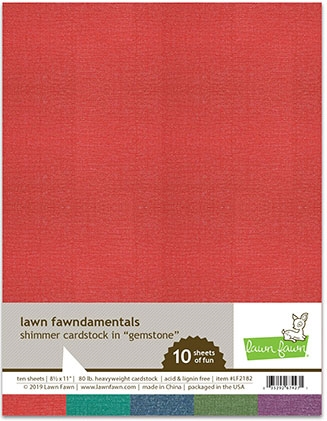 Lawn Fawn GEMSTONE 8.5 x 11 Inch Shimmer Cardstock lf2182 Preview Image