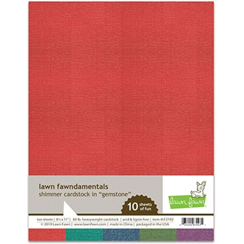 RESERVE Lawn Fawn GEMSTONE 8.5 x 11 Inch Shimmer Cardstock lf2182