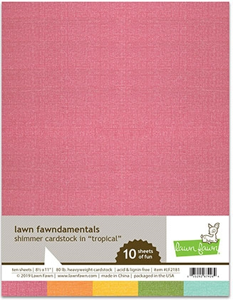 Lawn Fawn TROPICAL 8.5 x 11 Inch Shimmer Cardstock lf2181 Preview Image