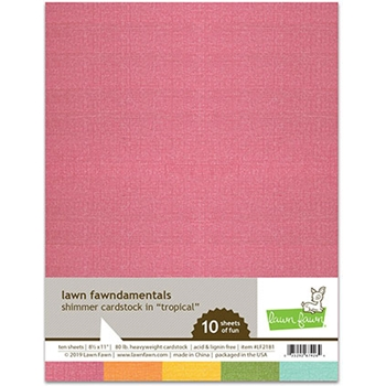 Lawn Fawn TROPICAL 8.5 x 11 Inch Shimmer Cardstock lf2181