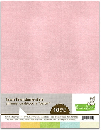 Lawn Fawn PASTEL 8.5 x 11 Inch Shimmer Cardstock lf2180 Preview Image