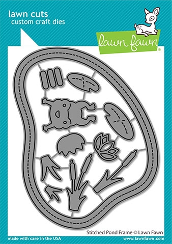 Lawn Fawn STITCHED POND FRAME Die Cut lf2068 zoom image