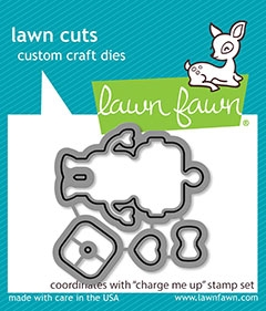 Lawn Fawn CHARGE ME UP Die Cuts lf1775