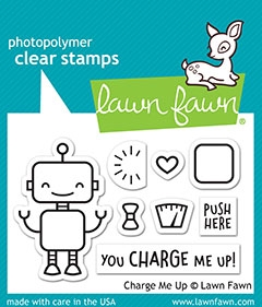 Lawn Fawn CHARGE ME UP Clear Stamps lf1774