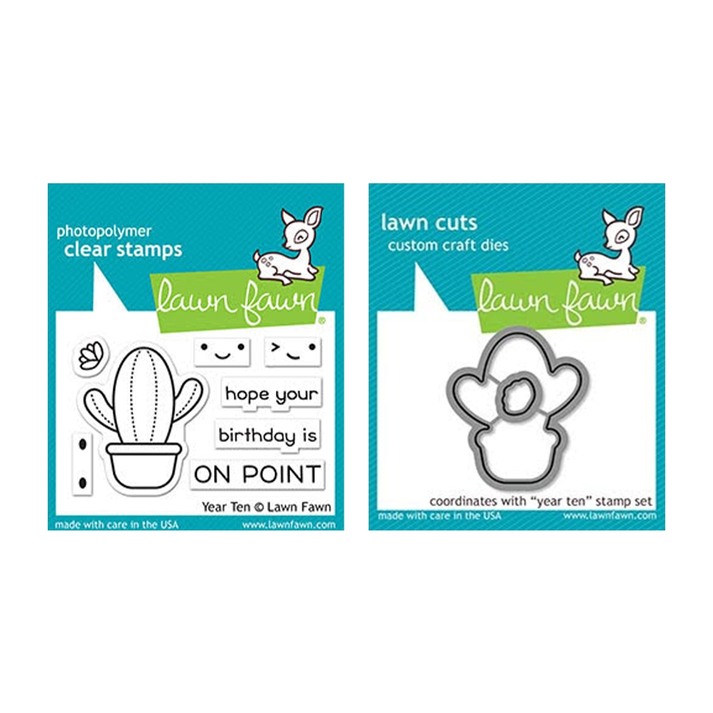 Lawn Fawn SET YEAR TEN Clear Stamps and Dies elfyt zoom image