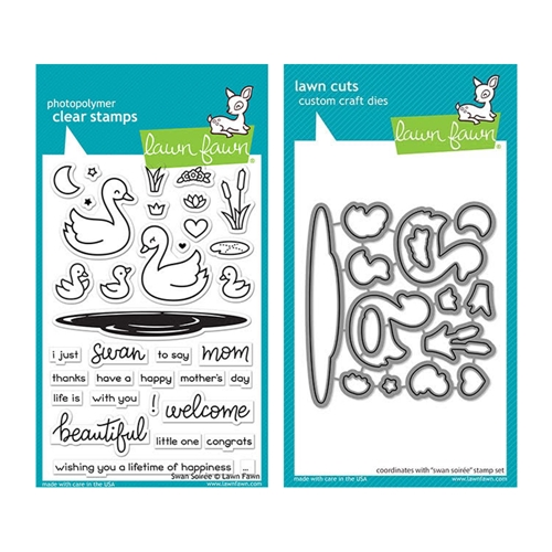 Lawn Fawn SET SWAN SOIREE Clear Stamps and Dies elfsws Preview Image