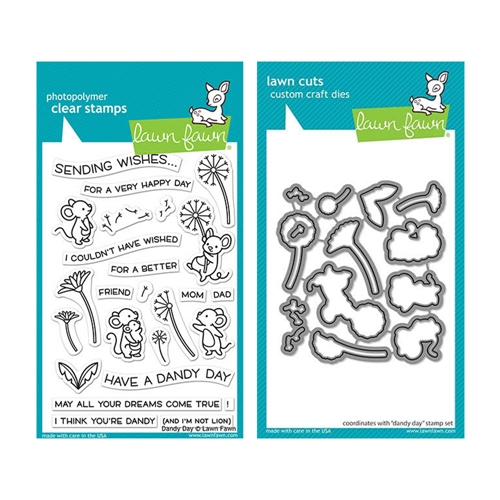 RESERVE Lawn Fawn SET DANDY DAY Clear Stamps and Dies elfdd Preview Image
