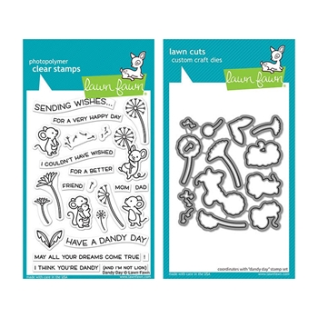 RESERVE Lawn Fawn SET DANDY DAY Clear Stamps and Dies elfdd