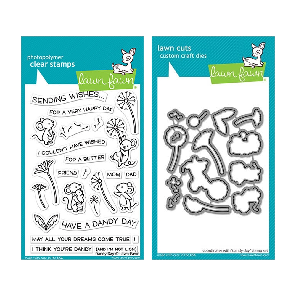 Lawn Fawn SET DANDY DAY Clear Stamps and Dies elfdd zoom image