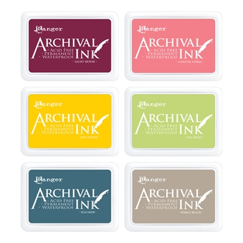 Ranger Archival INK PAD SET OF 6 ranger132