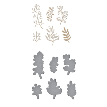 GLP-154 Spellbinders ORGANIC FOLIAGE Glimmer Hot Foil Plates