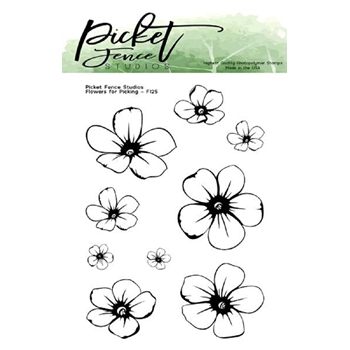 Picket Fence Studios FLOWERS FOR PICKING Clear Stamps f125