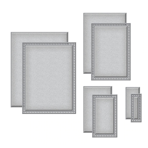 S5-411 Spellbinders ESSENTIAL RECTANGLES Etched Dies Preview Image