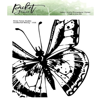 Picket Fence Studios SWALLOWTAIL BEAUTY Clear Stamp a138