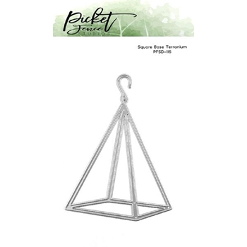 Picket Fence Studios SQUARE BASE TERRARIUM Die pfsd116