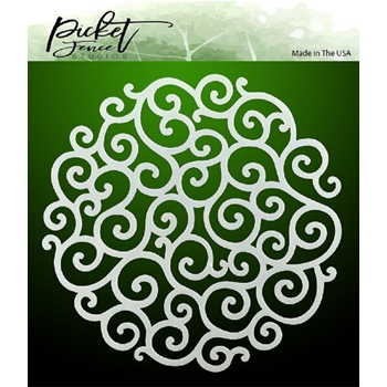 Picket Fence Studios FLOURISH CIRCLE Stencil sc107