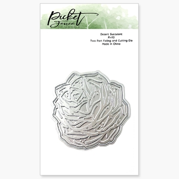 Picket Fence Studios DESERT SUCCULENT Foiled Impressions Die fi113
