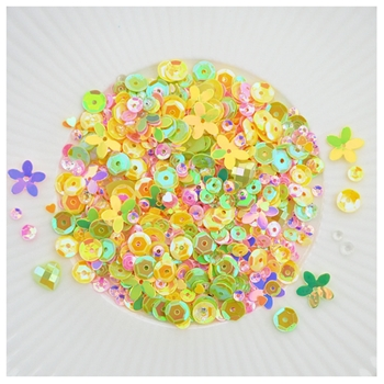 Little Things From Lucy's Cards HELLO SPRING Sequin Shaker Mix LB304